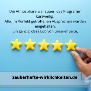 Kundenbewertung Zauberer Wolfsburg